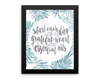Grateful Heart and Essential Oils Poster - Digital Download