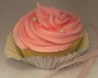 Pink Cotton Candy Cupcake Bath Bomb