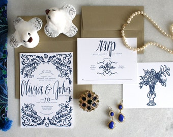 PRINTABLE Wedding Invitation Suite | Something Blue