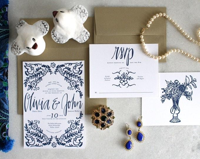 PRINTABLE Wedding Invitation Suite | Something Blue