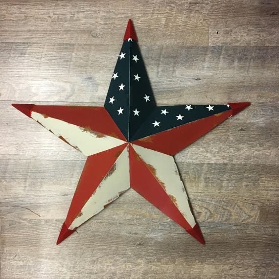 "24"" Metal Americana Barn Star"