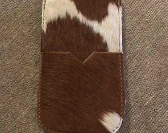 iPhone 6 Plus or 7 Plus Genuine Cow Hide Sleeve