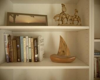 Cedar/Magnolia Handcrafted Wooden Boat
