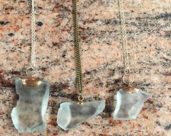 3 sisters Atlantic Ocean sea glass necklaces