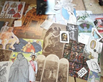 67 Piece Ephemera Pack Spiritual Mystic Religious Many Vintage Sources Collage Mixed Media Altered Art Journals