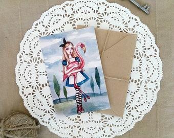 Alice in Wonderland - Postcard-Fairy Tale-Print