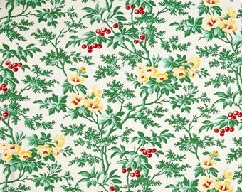 Fruta Y Flor Cherry Hill  Cotton Quilt Fabric Free Spirit Verna Mosquera