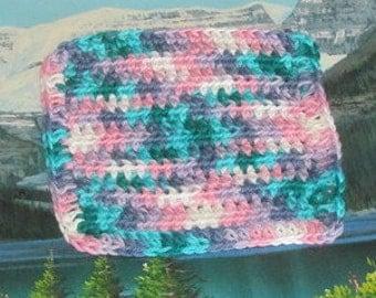 Hand crochet cotton dish cloth 6.5 by 6.5 CDC 076