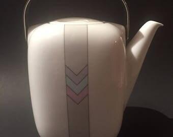 Rosenthal Tea Pot / Rosenthal White China Tea Pot  / Rosenthal Porcelain Tea / Coffee Pot / Rosenthal SUOMI Design