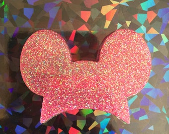 Mouse Ear Hat Brooch - Pink