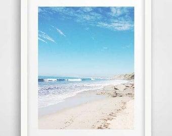 Beach wall art, ocean art, nautical decor, beach photography, modern wall art, cool posters, coastal wall art, seaside art, cheap art prints