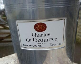 French Champagne bucket Charles de CAZANOVE / Vintage / Aluminium