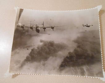 Vintage WWII Photo B-24 Bomber In Flight