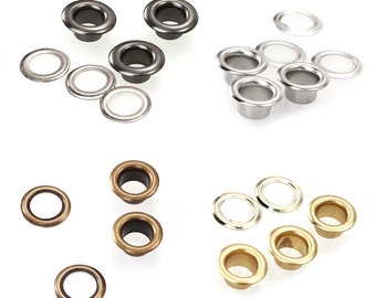 100 Eyelet Washers Grommets in 4mm inner hole Leather Craft Scrapbook Sewing Repair DIY