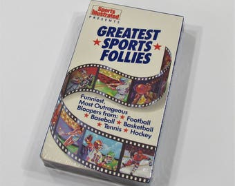Sports Illustrated Greatest Sports Follies 1989 VHS Video Cassette Bloopers Football Baseball Basketball Mint Condition