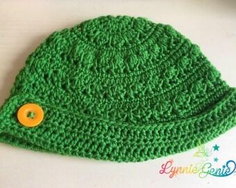 Baby Buttoned Brim Hat, Kids Buttoned Brim Hat, Toddler Buttonned Brim Hat, Teen Buttoned Brim Hat, Adult Buttoned Brim Hat, Crochet hat