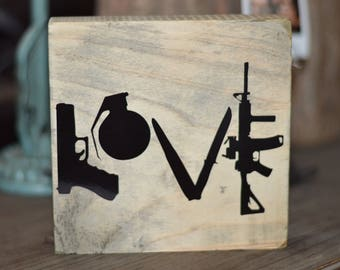 Military Love Sign