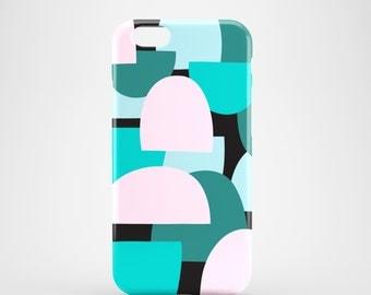 Green hills phone case / geometric phone case / fun phone case / iPhone 7, iPhone 7 Plus, iPhone Se, iPhone 6S, iPhone 6, iPhone 5/5S