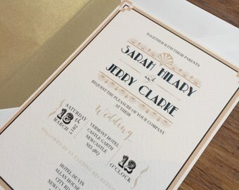 Great Gatsby - Wedding Stationery Set
