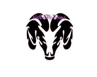 Dodge Ram Decal 12x12