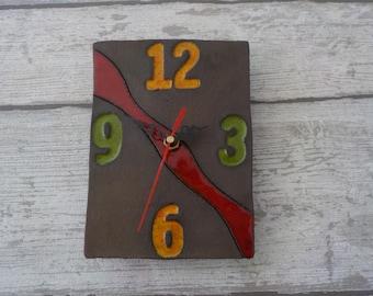 Hand made pottery clock