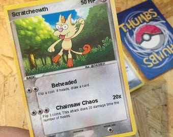 Scratchy x Meowth Trading Card