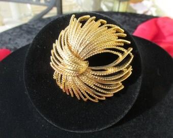 Gold Bow Tie Brooch Monet
