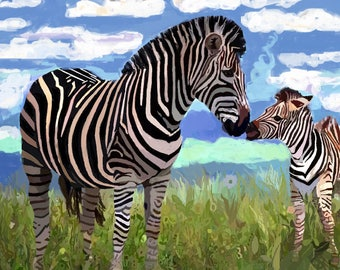 """Limited Edition Print of Watercolor, """"That Magic Moment"""", Art Collectibles, Paintings, Watercolors, Art, Wildlife Paintings, Conservation"""
