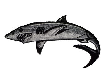 Great White Shark Applique Patch (Iron on)