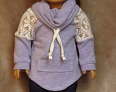 PURPLE Sweater ~ Handmade to fit like American Girl Doll Clothes, 18 inch doll clothes