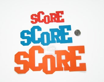 Score Die Cut Title - Die Cut Titles - Score Die Cut Saying - Sports Title Embellishment - Sports Die Cut Titles - Sports Die Cut Saying