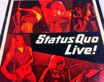 Status Quo Live 1975 Tour Programme Book