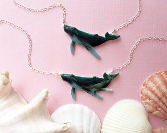 SALE Humpback Whale Necklace | Kohola | Megaptera Novaeangliae | Whale Necklace | Whale Pendant | Whale Charm