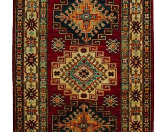 Handmade Afghan Kazak (14777)