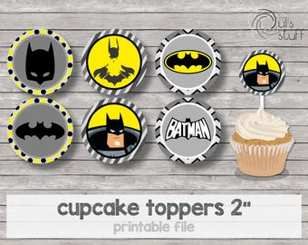 Printable Batman cupcake toppers