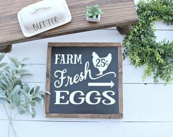 Farm Fresh Eggs Wood Sign,chicken signs,farmhouse signs,farm fresh eggs,magnolia market,fixer upper