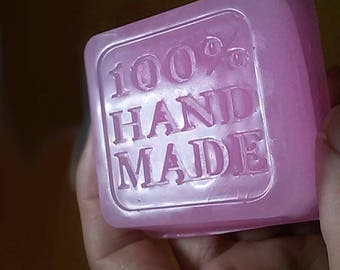 squre 100% handmade soap essential oil soap bar