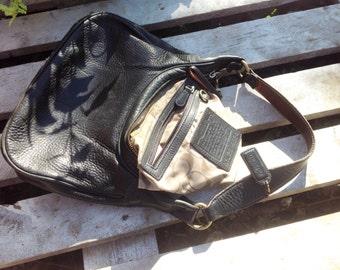 Coach black leather,handbag,purse,shoulder bag