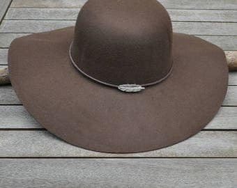 Brown Feather Hat