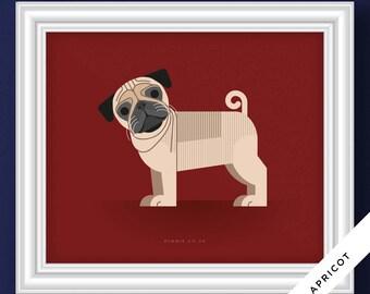 Pug Dog Portrait (Illustrative Poster)