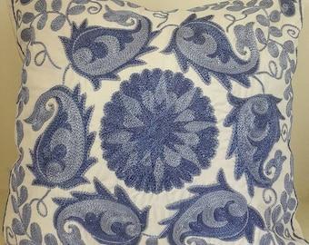 FREE SHIPPING!Suzani handmade pillow, pillowcase,pillow cover from Uzbekistan