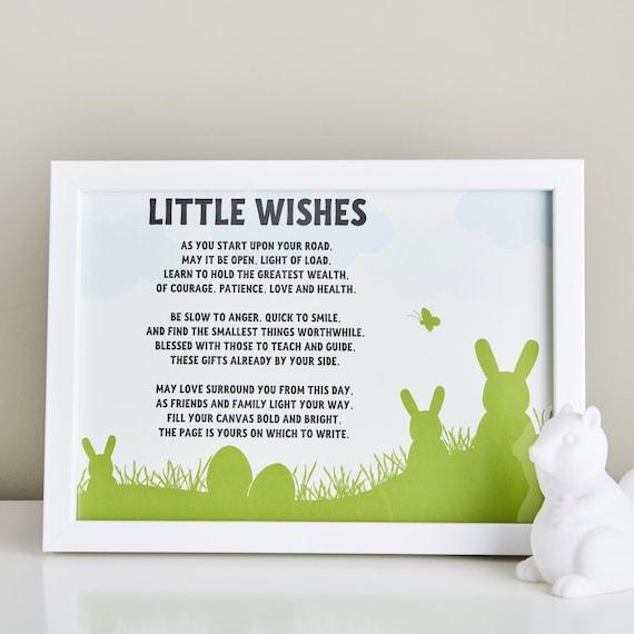 Cadeau pour le filleul petits souhaits un bébé poème