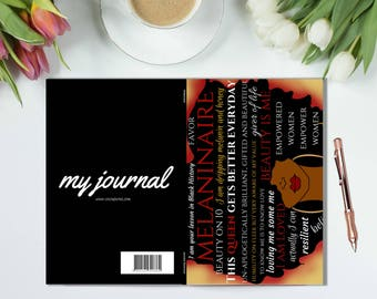 MELANINAIRE - Journal, Notebook, Perfect Bound Book, Diary, Planner