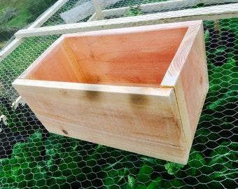 """5"""" x 5"""" x 12"""" Redwood Box"""