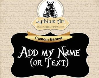 Add my Name or Text - Add On - Custom Banner/Poster