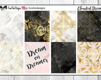 Clouded Dreams Marble Weekly Planner Kit
