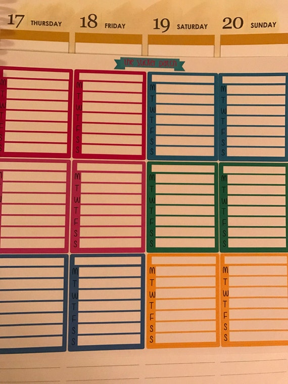 Create Your Own Weekly Checklist Stickers For Planners
