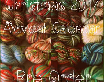 Pre-Order: Christmas 2017 Advent Calendar (Twist Sock) - Hand Dyed Yarn - 240 Grams