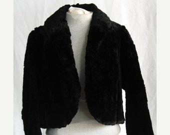 On Sale Vintage 1930's  Short Beaver Fur Evening Jacket