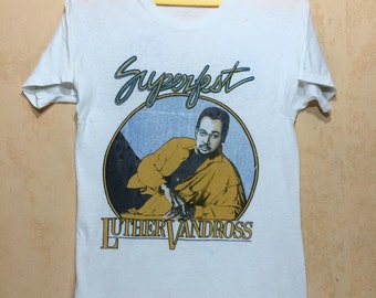 80s Collectible Vintage 1986 LUTHER VANDROSS Superfest Tshirt Patti - Maze - Frankie